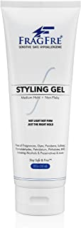 FRAGFRE Styling Gel Fragrance Free 8 oz Medium Hold - Hair Styling Gel for Sensitive Skin - Hypoallergenic Parabens Free -...
