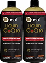 Qunol Liquid CoQ10 100mg, Superior Absorption Natural Supplement Form of Coenzyme Q10, Antioxidant for Heart Health, Orange Mango Flavored, 90 x2 Servings (180), 30.4 Oz Bottle x2 (60.8) | Value Pack
