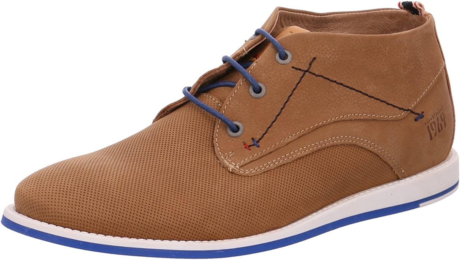 S.Oliver Mens shoes 5-5-15106-38 Fashionable Men's Leisure shoes, Sneakers, Trainers, Lace-Up Flats, Lace-Up shoes, Leather shoes, ankle-high with Lacing