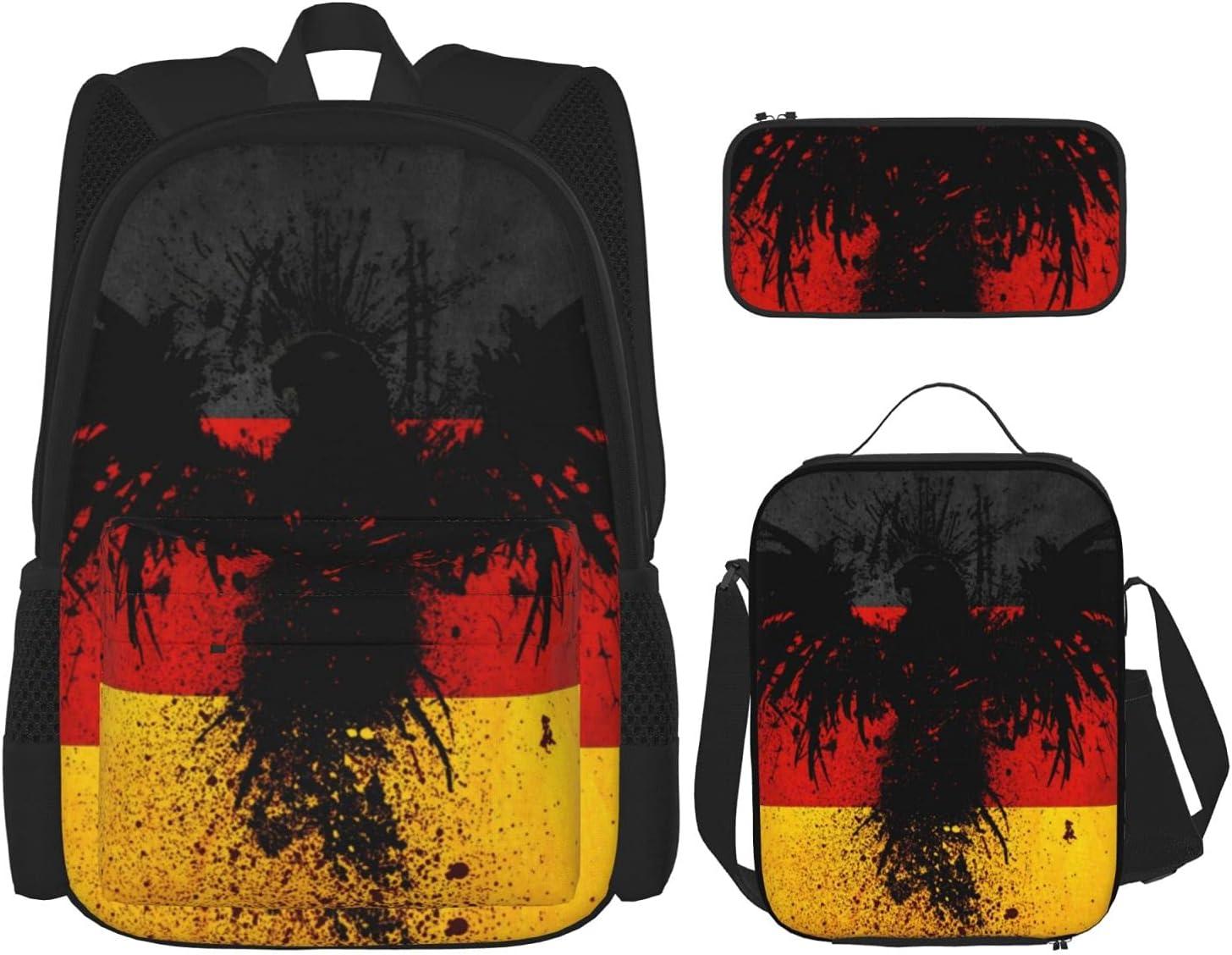 German Flag Washington Mall Bird Youth High quality new School Lunch Pencil Combinat Case Bag