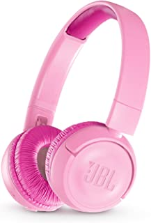 JBL JR 300BT Kids On-Ear Wireless Headphones with Safe Sound Technology (Pink)