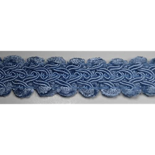 1//2 CHENILLE GIMP BRAID Many Colors Available Light Blue 18 Continuous Yards