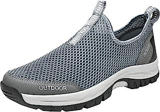 Fitzac Herren-Schuhe, Outdoort Fly Woven Mesh Cover Durchdringende Air Soft Bottom Running Klettern Sportschuhe Clarks Her...