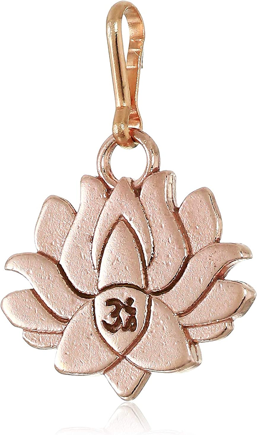 Alex and Ani Women's Lotus Peace Petals Charm 14KT Rose Gold Plated, Expandable