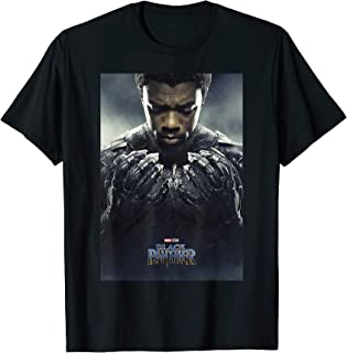 Marvel Black Panther Avengers T'Challa Poster T-Shirt