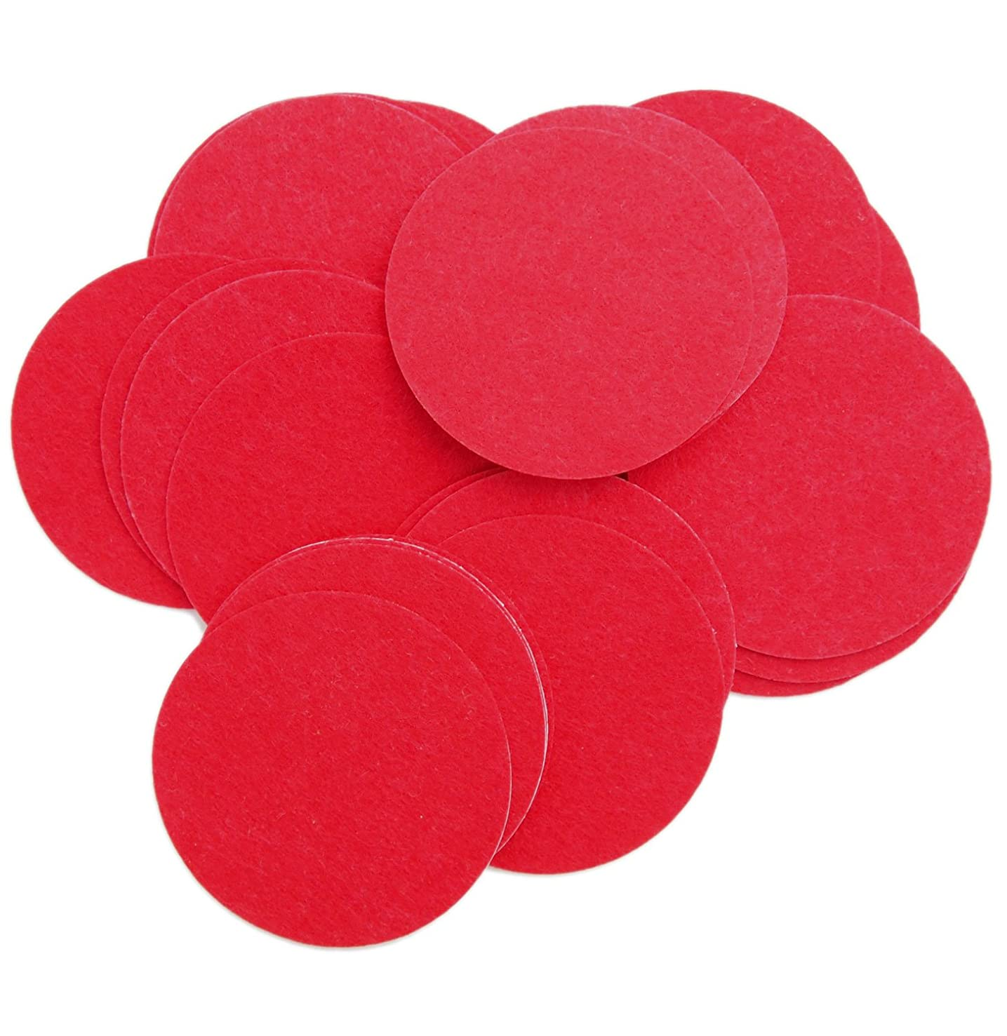 Playfully Ever After 5 Inch Red 15pc Stiff Felt Circles
