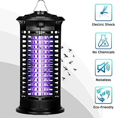 Gottowow Pest Killer Uses 1000-Volt Of Zapping Power To Stun And Kill Insects On Contact. Narrow grills ensure that the Mosquito Zappers Safe Around Pets And The Hanging Chain Makes It Ultra-Versatile