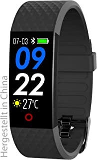 Smart Wearable SW 320 HR - Reloj de Pulsera con medidor de frecuencia cardíaca, Color Negro