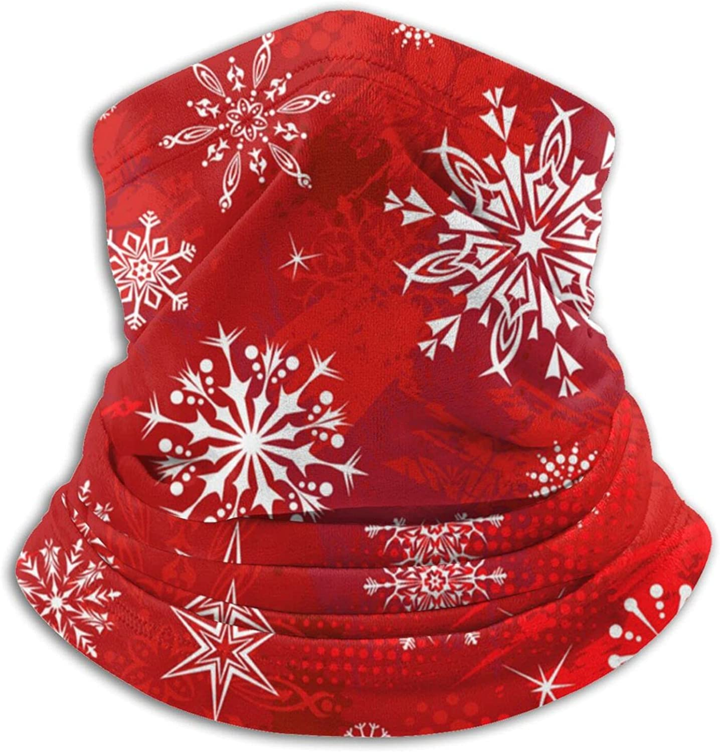 Christmas snowflake crystal unisex winter neck gaiter face cover mask, windproof balaclava scarf for fishing, running & hiking