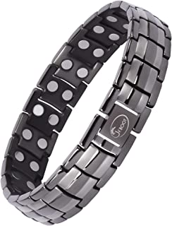 Titanium Magnetic Therapy Bracelet for Men Pain Relief for Arthritis and Carpal Tunnel (Gunmetal Gray)