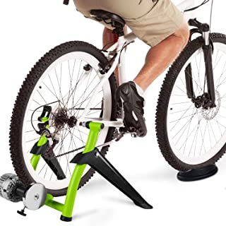 DYNAMIC SE Indoor Bike Trainer Indoor Eexercise Bicycle Magnetic Trainer Stand 6 Levels Magnetic Resistances with Quick Release Skewer