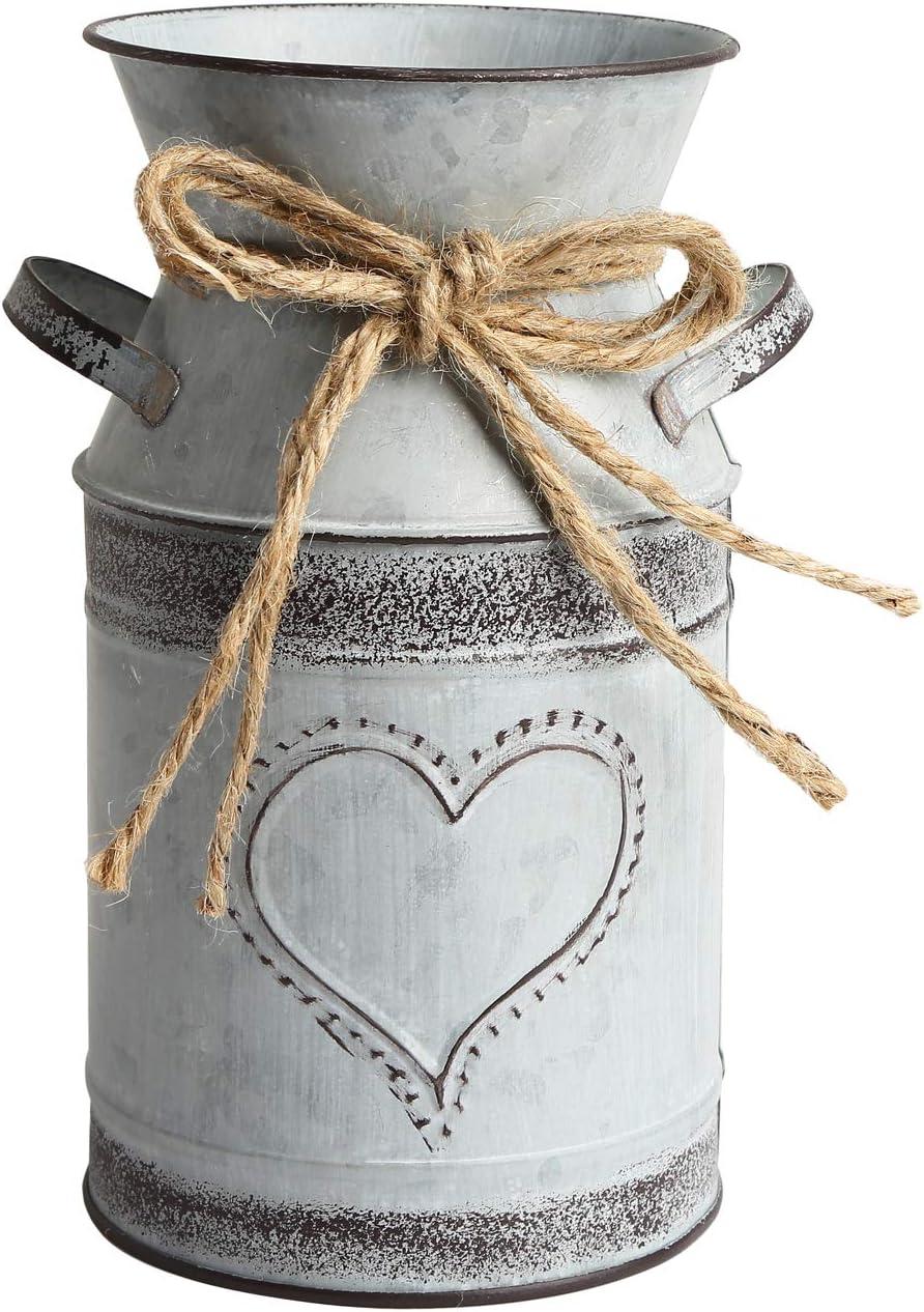 APSOONSELL Shabby Chic Decor Brand Cheap Sale Venue Milk Can Save money Farmhouse Meta Vases