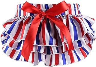 Wennikids Newborn Baby Christmas Satin Baby Ruffle Bloomers Diaper Covers