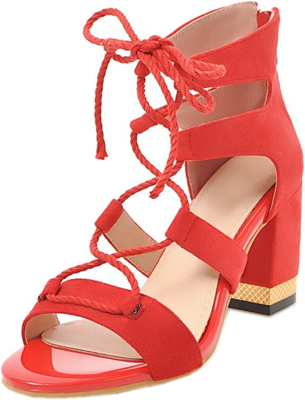 Rongzhi Womens High Heels Chunky Block Heels Cross Ankle Strap Heeled Sandals Zipper Party Dress Open Toe Black