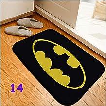 Paillasson d'intérieur Batman Wonder Woman - 38,1 x 58,4 cm - Tapis antidérapant pour porte d'entrée, sol, paillasson, tap...