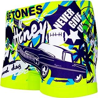 BETONES (ビトーンズ) メンズ ボクサーパンツ ELVI YELLOW dwearsステッカー入り ローライズ アンダーウェア 無地 ブランド 男性 下着 誕生日 プレゼント