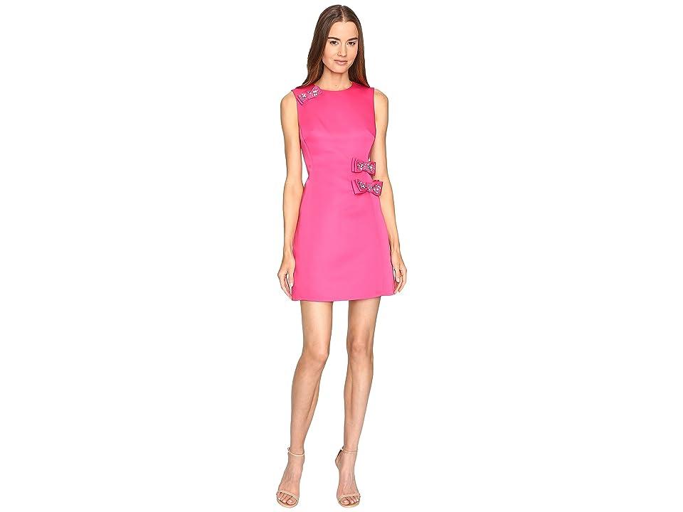Kate Spade New York Embellished Bow A-Line Dress (Cabaret Pink) Women