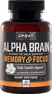 ONNIT Alpha Brain (30ct) - Over 1 Million Bottles Sold - Premium Nootropic Brain Supplement - Focus, Concentration & Memor...