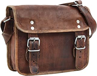 Gusti Handtasche Leder - Jane M. 7,9 Umhängetasche Vintage Braun Leder