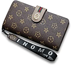 van Persie Women Flower Designer Retro Wallet RFID Purse Handbag Wristlet with Zipper