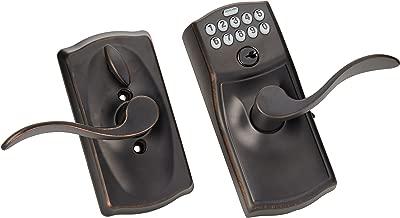 Schlage FE595VCAM716ACC FE595VCAM/ACC 716 Keypad Accent Lever Door Lock, Flex, Aged Bronze