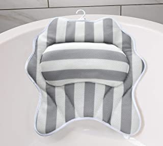 Gepege Bath Pillows for Tub Neck, Head, Shoulder and Back Support, Bathtub Spa Pillow Rest, Bath Accessories