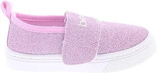 Kids Glitter Sneakers for Girls,Toddler Girl Slip On Sneaker,Bling Sparkle Shoes