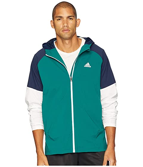 a3dd083a91 adidas Sport ID Full Zip Woven Hoodie at 6pm