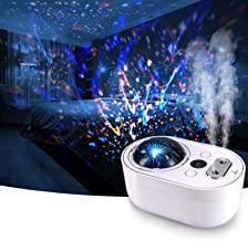 Star Projector & Night Light ,YISUN Star Night Light Projector with Humidifiers for Bedroom, Digital Display360° Rotating ...