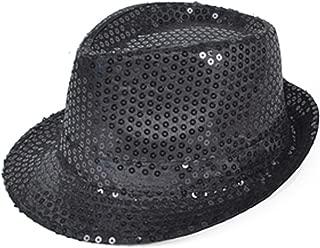 Sequined Fedora Hat (black)
