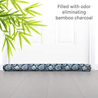 Bamboo Charcoal Air Purifying Door Draft Stopper - Draft Blockers for Doors and Windows with Charcoal Air Purification   Moisture Absorber, Odor Eliminator, Soundproof and Stop Draft Under Door