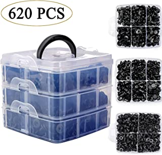 Uolor 620 Pcs Car Retainer Clips & Plastic Fasteners Kit Fender Rivet Clips, 16 Most Popular Sizes Auto Push Pin Rivets Kit for GM Ford Toyota Honda Chrysle