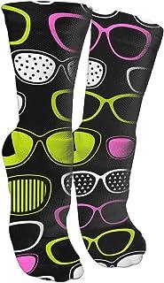 GJTIKFJ Eyeglasses Pop-Art Knee High Graduated Compression Socks for Unisex - Best Medical, Nursing,Running & Fitness