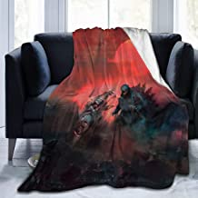 Fashion Fleece Bed Blankets, Shin Godzilla Vs Mechagodzilla Red Sunset King of The Monsters Personalized Throw Blankets, Winter Ultra Soft Party Blanket Fit Men Living Room Airplane