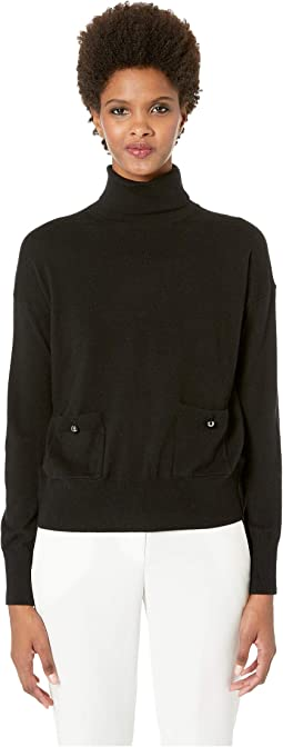 Broome Street Turtleneck Pocket Sweater