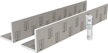 LUX ELEMENTS Pijpkast klaar om te betegelen, TEC-KA 20 set LTECX6002, grijs