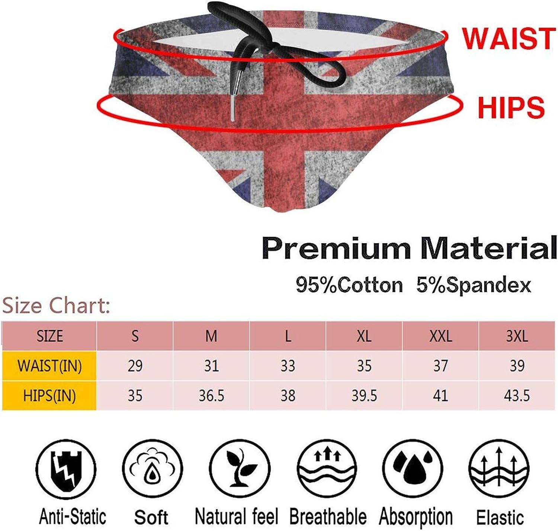 N\ A Vintage Britain Flag UK Retro Mens Swimsuit Brief Beach Underwear Swimwear Bikini Low Rise Boys