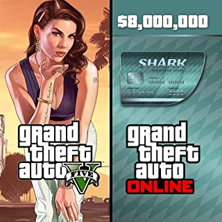 Grand Theft Auto V & Megalodon Shark Card Bundle - PS4 [Digital Code]