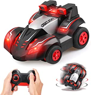 GrowthPic Toy Remote Control Stunt Car, Kids 4WD RC Car Off Road Electric Vehicle, 2.4GHz High Speed Car with 360 Degree Rotation and Light Strips, Best Gift for 6-14 Year Old Boys Girls and Adults
