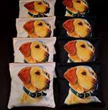 BackYardGamesUSA Dog Lovers Golden Labrador Retriever 8 ACA Regulation Cornhole Bean Bags B163