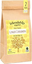 Friendship Organics Ginger Cinnamon, Totally Organic and Fair Trade Certified Herbal Tea in Tagless Tea Bags (40 Count)