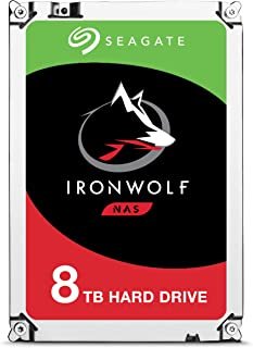 Seagate IronWolf 8TB NAS Internal Hard Drive HDD – 3.5 Inch SATA 6Gb/s 7200 RPM 256MB Cache for RAID Network Attached Storage (ST8000VN0022)