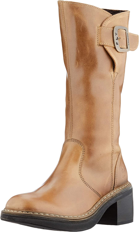FLY LONDON Women's ERIS050FLY Mid Calf Boot, Camel, 8