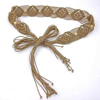 Fascigirl Women Waist Belt Bohemian Braiding Retro Dress Waist Chain Waist Sash