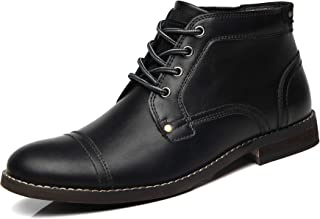 Mens Boots Combat Dress Fashion Lace up Motorcycle Boot...
