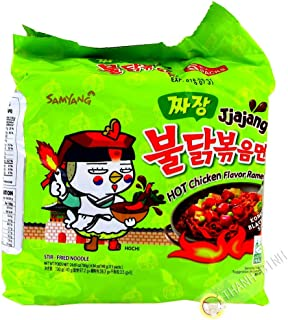 Samyang Jjajang Hot Chicken Ramen 짜장 불닭 볶음면 (Pack of 5)