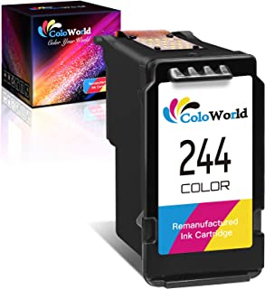ColoWorld Remanufactured Ink Cartridge Replacement for Canon CL-244 CL-246XL 246 XL (1 Color) Used for Pixma TS3122 MX490 ...