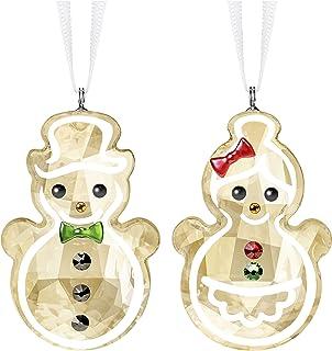 "SWAROVSKI Snowman Ornament, 1 3/4"" x 1"", Gingerbread Couple"