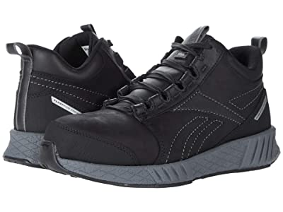 Reebok Work Fusion Flexweavetm Work Composite Toe (Black/Grey) Men