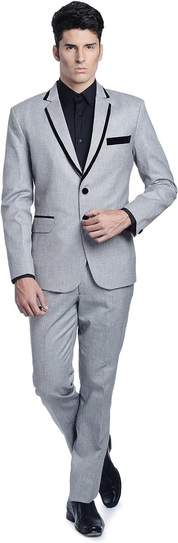 LUXURAZI Men's The Linen Import Blended trend rank Fashion Suit